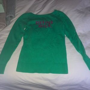 """Lilly Pulitzer """"Define Nice"""" sweater size small"""
